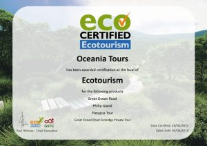 Ecotourism Certificate for Oceania Tours