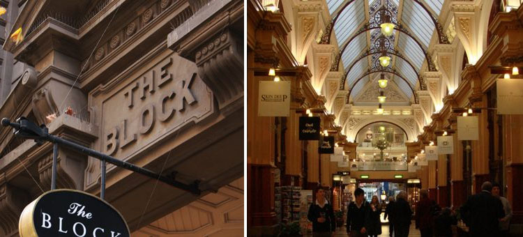 Front of Block Arcade Melbourne