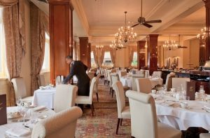 Grand dining room at the Windsor Hotel Melbourne
